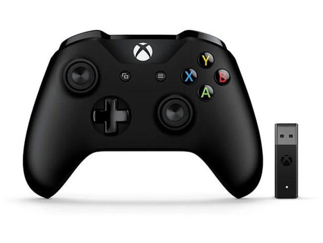 Геймпад беспроводной Microsoft Xbox One + Беспроводной ПК адаптер черный [4n7-00003] xbox