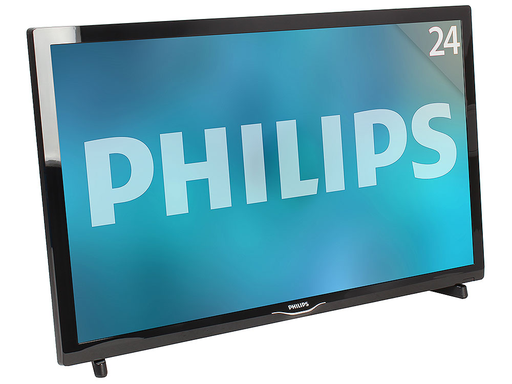 "Телевизор LED 24"" Philips 24PHT4031/60 черный/HD READY/200Hz/DVB-T/DVB-T2/DVB-C/USB (RUS)"