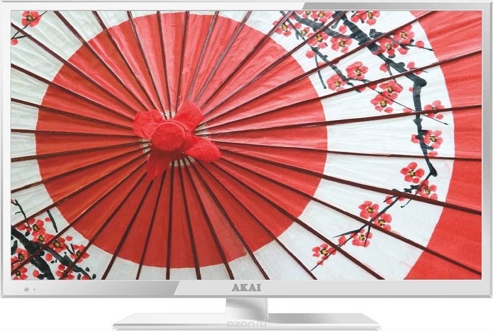 Телевизор Akai LEA-24V61W LED 23.6 White, 16:9, 1920x1080, 1000:1, 200 кд/м2, AV, USB, VGA, HDMI, DVB-C akai mpc 1000 в петербурге