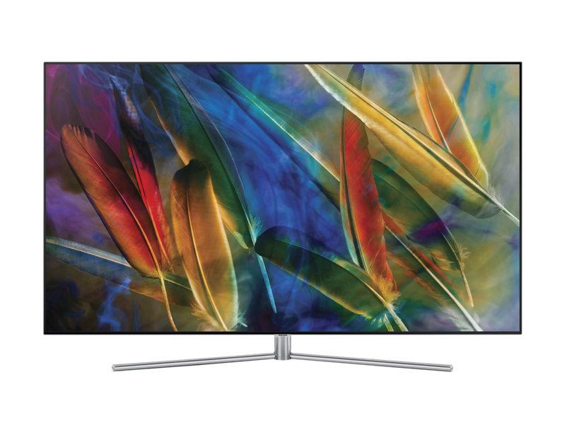 Телевизор SAMSUNG QE65Q7FAMUXRU QLED 65'' Silver, 16:9, 3840x2160, 3xUSB, 4xHDMI, Cl, RJ-45, Smart TV, DVB-T2, C, S2 samsung ue43ku6650uxru телевизор silver