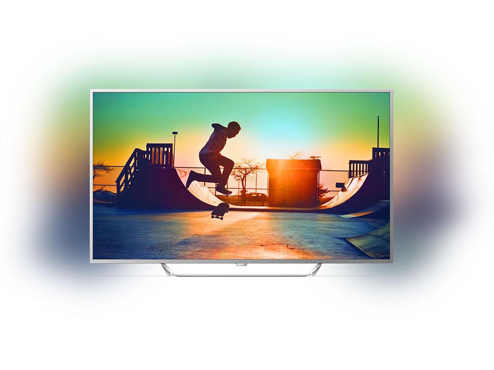 Телевизор LED 65 Philips 65PUS6412/12 серебристый/Ultra HD/1000Hz/DVB-T/DVB-T2/DVB-C/USB/WiFi/SmartTV (RUS) телевизор philips 65pus6412 60