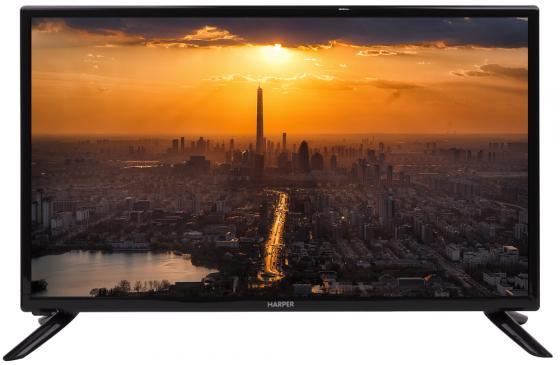 Телевизор Harper 28R470T LED 28 Black, 16:9, 1366x768, 60000:1, 210 кд/м2, USB, VGA, 3xHDMI, DVB-T, T2, C телевизор led 24 harper 24r471t белый hd ready hdmi usb vga white 16 9 1366x768 50000 1 210 кд м2 vga hdmi dvb t t2