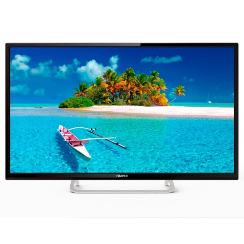 Телевизор Harper 32R660T LED 32 Black, 16:9, 1366x768, 70000:1, 230 кд/м2, USB, VGA, 3xHDMI, AV, DVB-T, T2, C телевизор erisson 32lea20t2 led 32 black 16 9 1366x768 smart tv 1000 1 240 кд м2 2xusb vga 3xhdmi scart dvb t t2 c