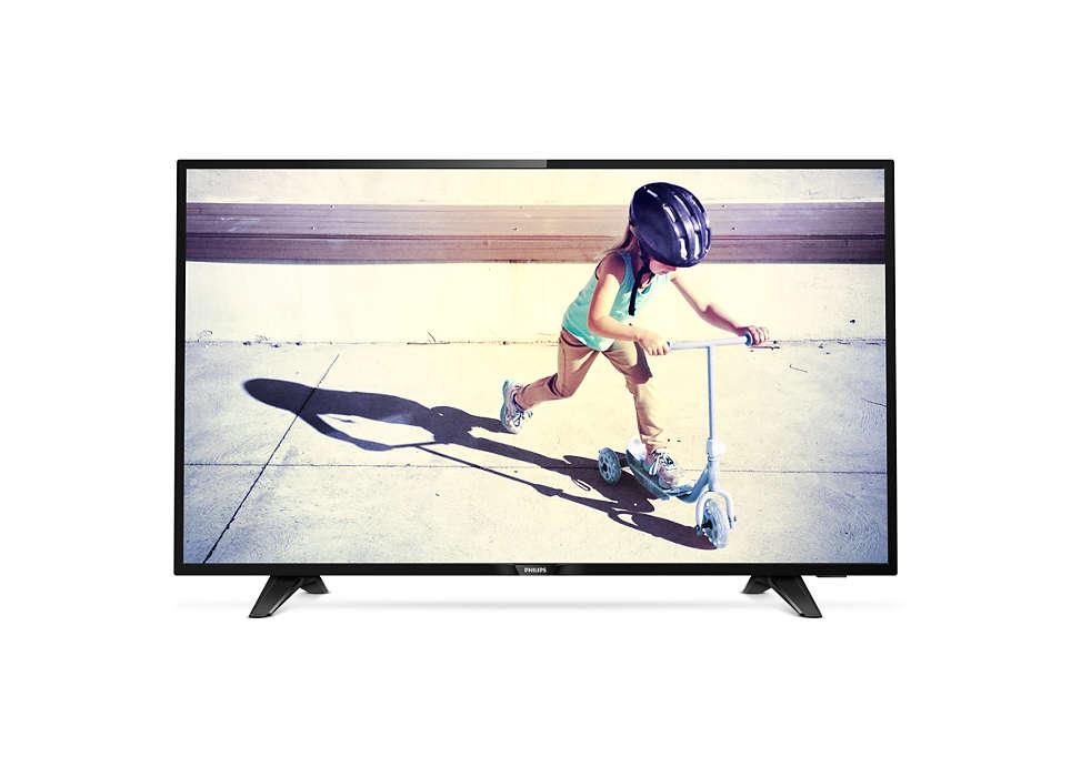 Телевизор Philips 43PFT4132/60 LED 43 Black, 16:9, 1920x1080, 280 кд/м2, USB, VGA, 2xHDMI, SCART, DVB-T, T2, C телевизор 43 philips 43pft4132 60 full hd 1920x1080 usb hdmi черный