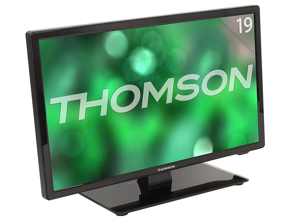 Телевизор Thomson T19RTE1060 LED 19 Black, 16:9, 1366x768, 1000:1, 180 кд/м2, USB, VGA, HDMI, AV, DVB-T, T2, C телевизор thomson t19rte1060