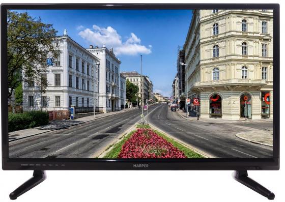 Телевизор LED 24 Harper 24R470T Черный, HD Ready, HDMI USB VGA Black, 16:9, 1366x768, 50000:1, 210 кд/м2, VGA, HDMI, DVB-T, T2