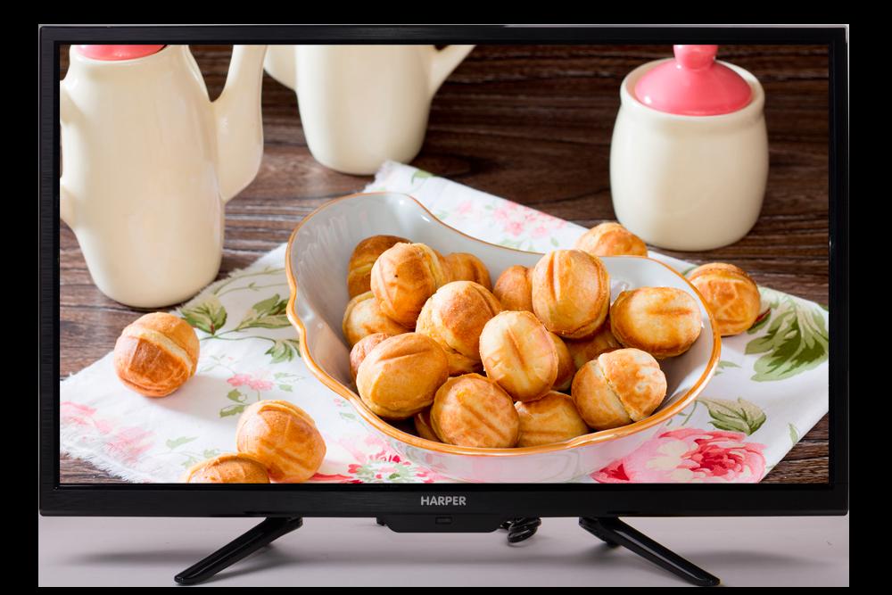 Телевизор Harper 28R660T LED 28'' Black, 16:9, 1366x768, 60000:1, 210 кд/м2, USB, AV, 3xHDMI, DVB-T, T2, C телевизор harper 32r660t led 32 black 16 9 1366x768 70000 1 230 кд м2 usb vga 3xhdmi av dvb t t2 c
