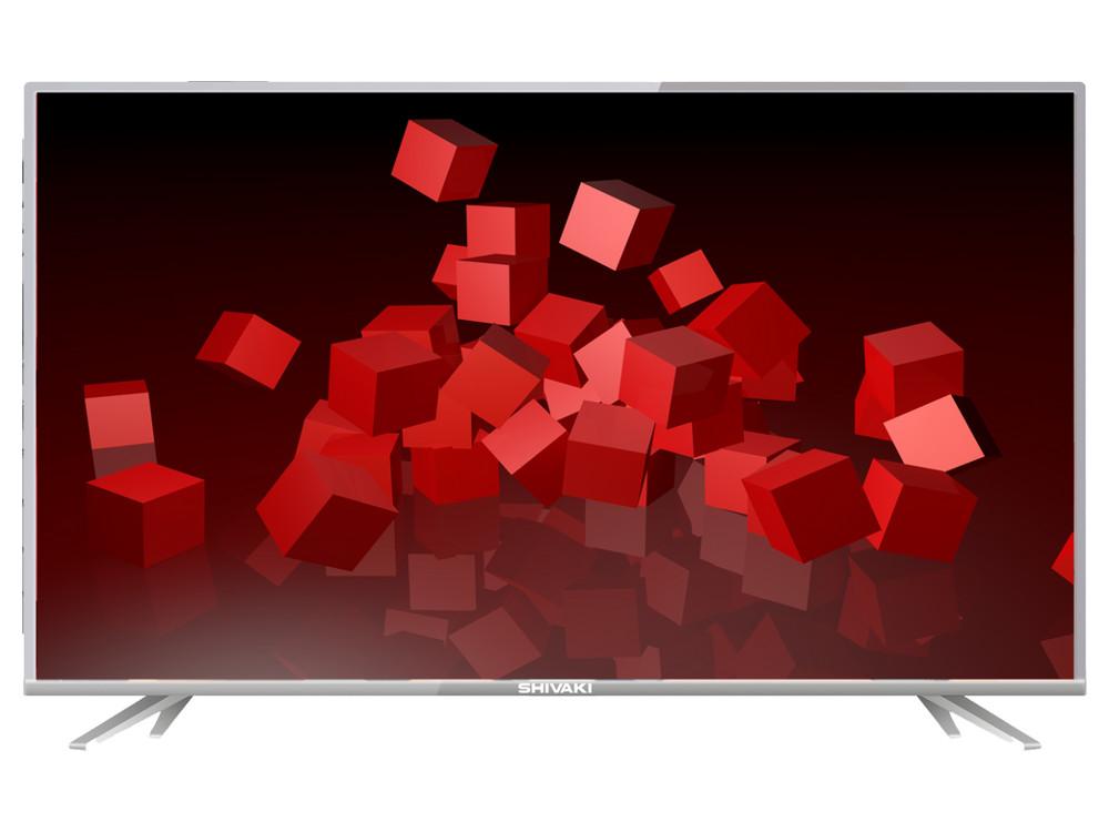 Телевизор SHIVAKI STV-43LED16 LED 43 Silver, 16:9, 1920x1080, 3000:1, 240 кд/м2, USB, VGA, HDMI, AV, SCART, DVB-T, T2, C, S brand new ati radeon 7000 64m sdram vga tvo av agp graphic card video card vga tvo av high quality