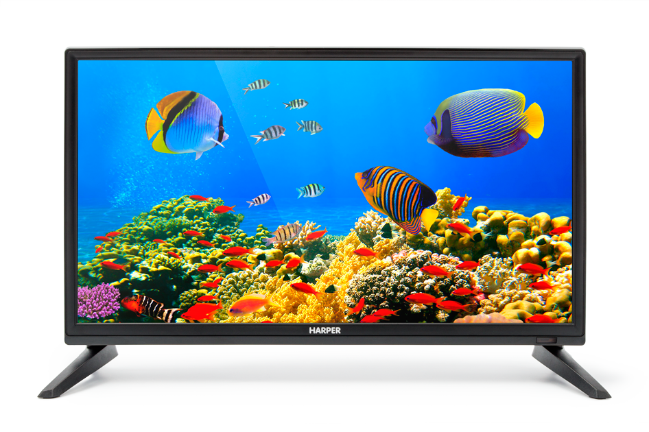 "Картинка для ""Телевизор LED 20"""" Harper 20R470T Черный, HD Ready, DVB-T2, HDMI, USB, VGA Black, 16:9, 1366x768, 40000:1, 180 кд/м2, VGA, HDMI, DVB-T, T2, C"""