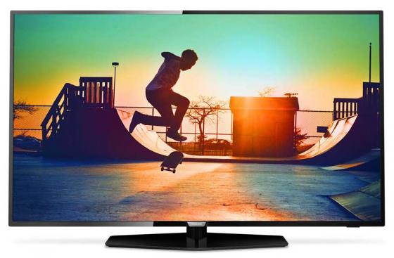 Телевизор LED 55 Philips 55PUT6162/60 черный 3840x2160 Wi-Fi Smart TV YPbPr RJ-45 Black, 16:9, 3840x2160, 350 кд/м2, WiFi, Smart TV, HDMI, DVB-T, T2, телевизор led 65 samsung qe65q7camux серебристый 3840x2160 wi fi smart tv rs 232c