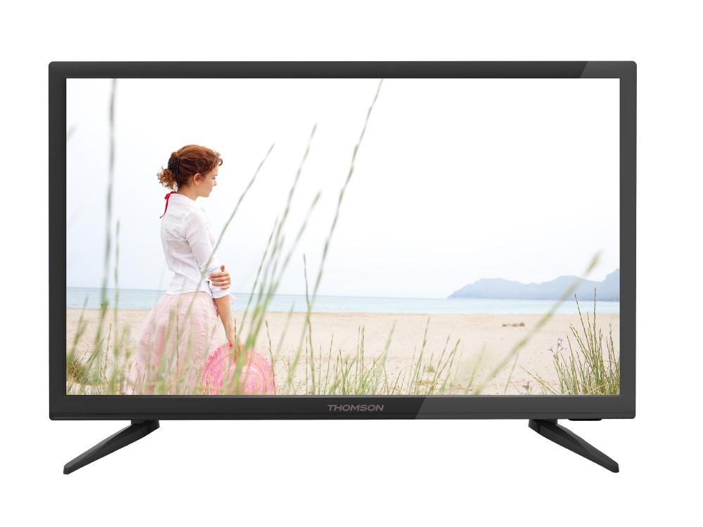 Телевизор LED 24 Thomson T24RTE1020 Черный, HD Ready, DVB-T2, HDMI, USB original dvb t satlink ws 6990 terrestrial finder 1 route dvb t modulator av hdmi ws 6990 satlink 6990 digital meter finder