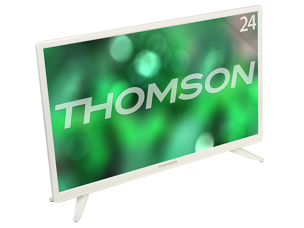 Телевизор LED 24 Thomson T24RTE1021 Белый, HD Ready, DVB-T2, HDMI, USB телевизор thomson t43d19sfs 01w белый