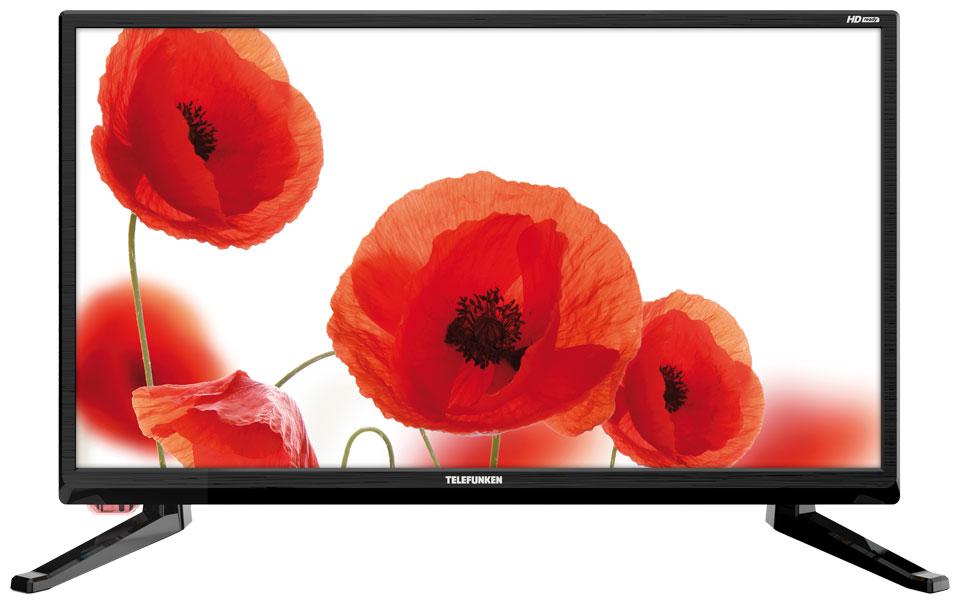 Телевизор Telefunken TF-LED19S43T2 LED 19 Black, 16:9, 1366x768, 2400:1, 200 кд/м2, USB, HDMI, VGA, AV, DVB-T, T2, C t v56 03 universal vga hdmi av audio usb tv lcd controller board for 15 6 inch 1366x768 lp156wh1 ccfl lvds led monitor kit