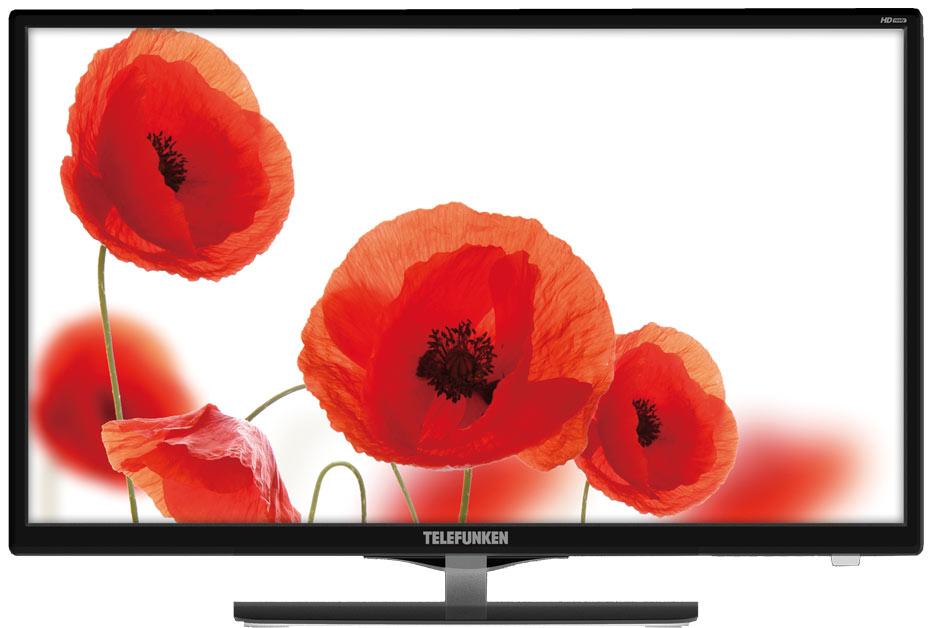 Телевизор Telefunken TF-LED24S41T2 LED 24 Black, 16:9, 1366x768, 3000:1, 200 кд/м2, USB, VGA, HDMI, AV, DVB-T, T2, C телевизор telefunken tf led24s41t2 черный