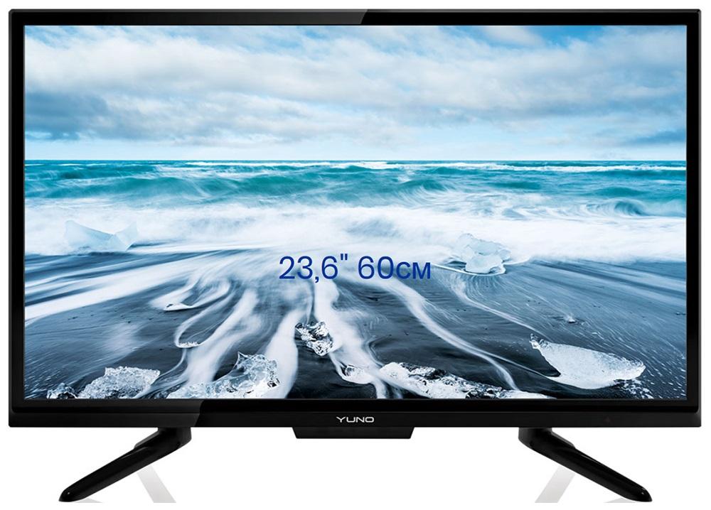 Телевизор Yuno ULM-24TC111 LED 24 Black, 16:9, 1366x768, 3000:1, 220 кд/м2, AV, VGA, HDMI, USB, DVB-T, T2, C t v56 03 universal vga hdmi av audio usb tv lcd controller board for 15 6 inch 1366x768 lp156wh1 ccfl lvds led monitor kit