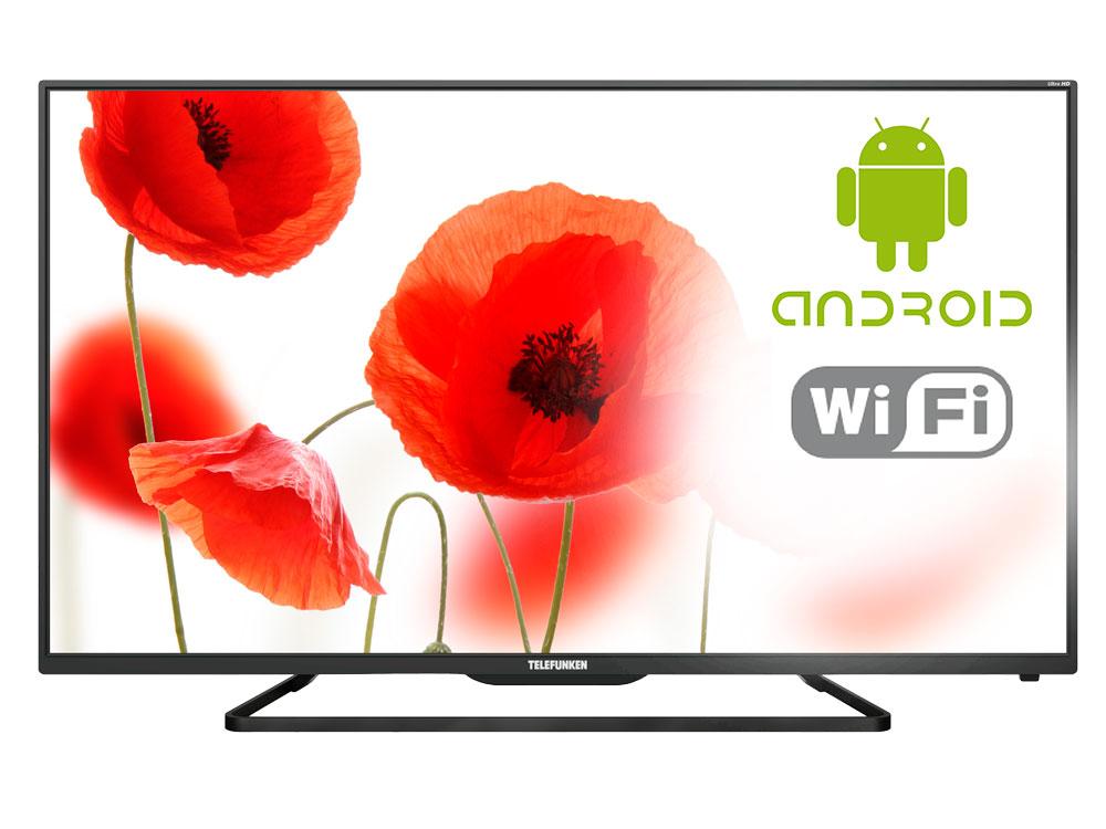 Телевизор TELEFUNKEN TF-LED65S37T2SU LED 65 Black, 16:9, 3840x2160, 3000:1, 350 кд/м2, 3xHDMI, 3xUSB, AV, DVB-T, T2, C