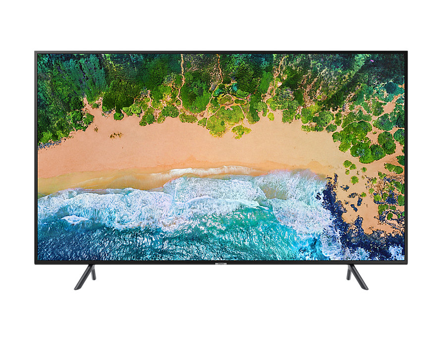 Телевизор Samsung UE43NU7100UXRU LED 43 Black, Smart TV, 16:9, 3840x2160, 2xUSB, 3xHDMI, AV, RJ-45, Wi-Fi, DVB-S2, T2, C 140f1142 devireg smart интеллектуальный с wi fi бежевый 16 а