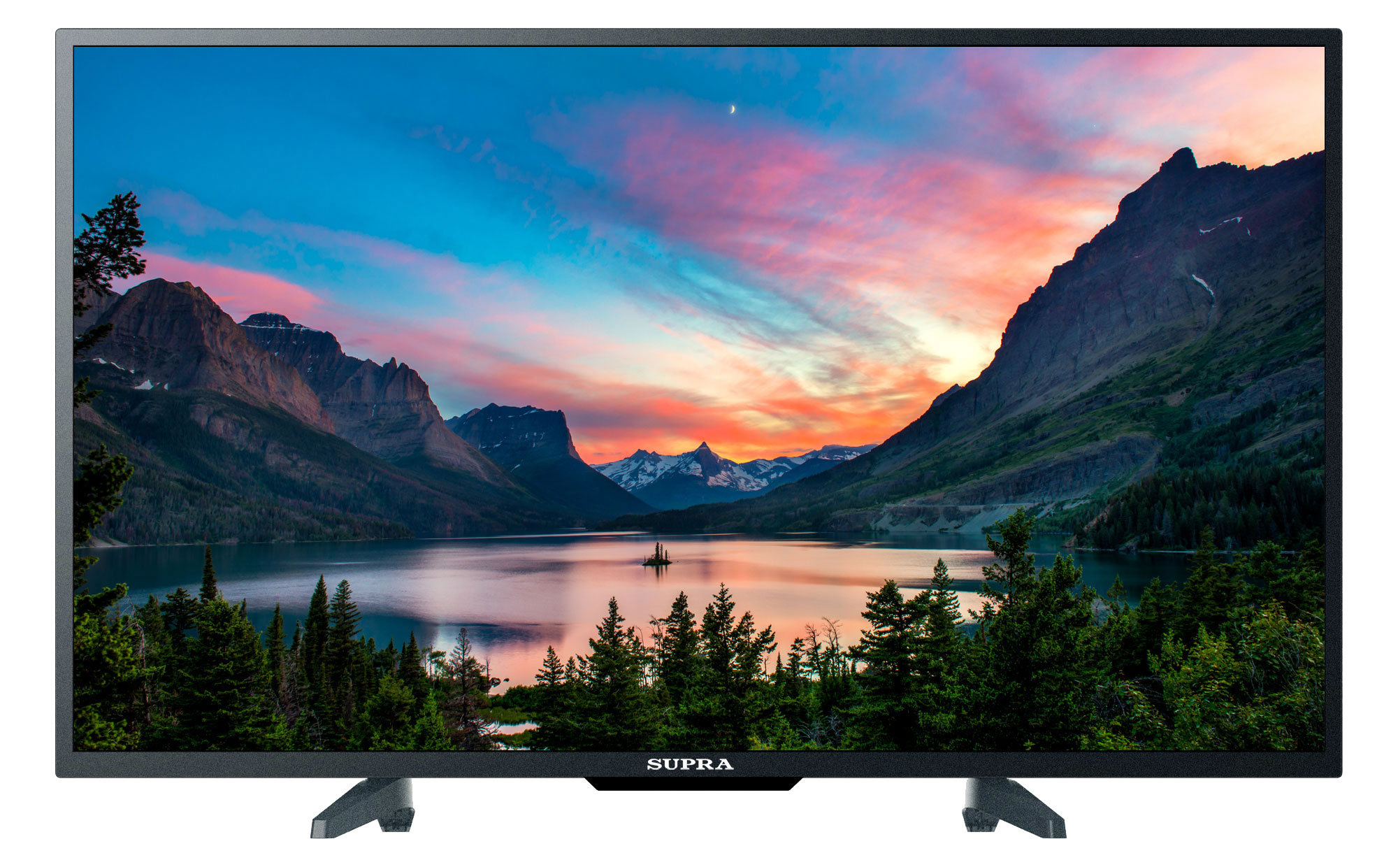 Телевизор Supra STV-LC40LT0012F LED 40' Black, 16:9, 1920x1080, 120000:1, 280 кд/м2, USB, VGA, HDMI, AV, USB, DVB-T, T2, C ur52 new 1080p home theater multimedia lcd projector w av tv vga usb hdmi sd white