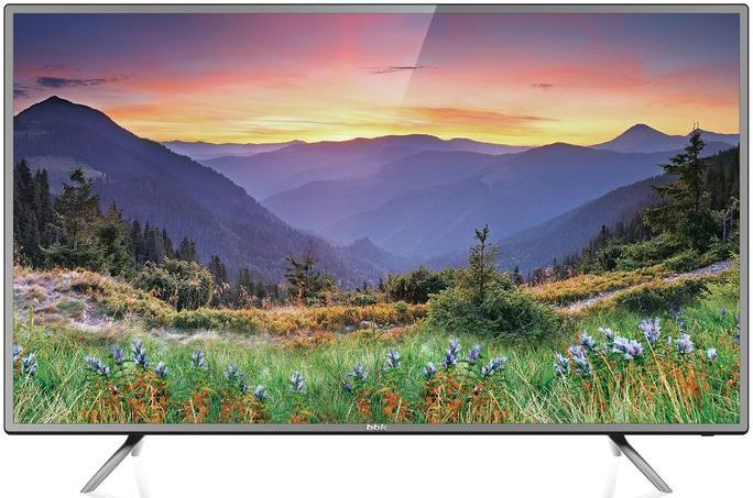 Телевизор BBK 55LEX-6042/UTS2C LED 55 Black-Silver, 16:9, 3840x2160, 4500:1, 250 кд/м2, USB, VGA, HDMI, AV, Smart TV, Wi-Fi, DVB-T, T2, C, S2 ur52 new 1080p home theater multimedia lcd projector w av tv vga usb hdmi sd white