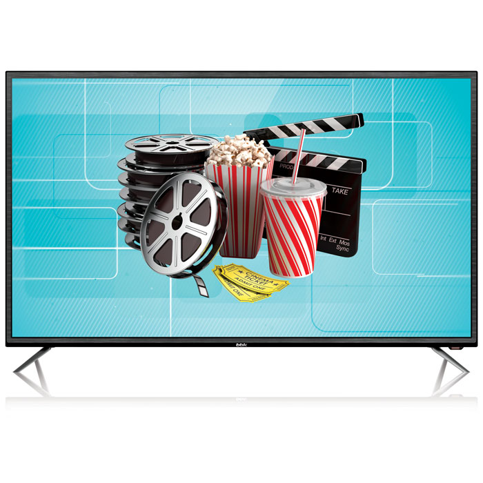 Телевизор BBK 43LEX-7027/FT2C LED 43 Black, 16:9, 1920x1080, Smart TV, 1200:1, 250 кд/м2, USB, VGA, 3xHDMI, AV, RJ45, WiFi, DVB-T2, C