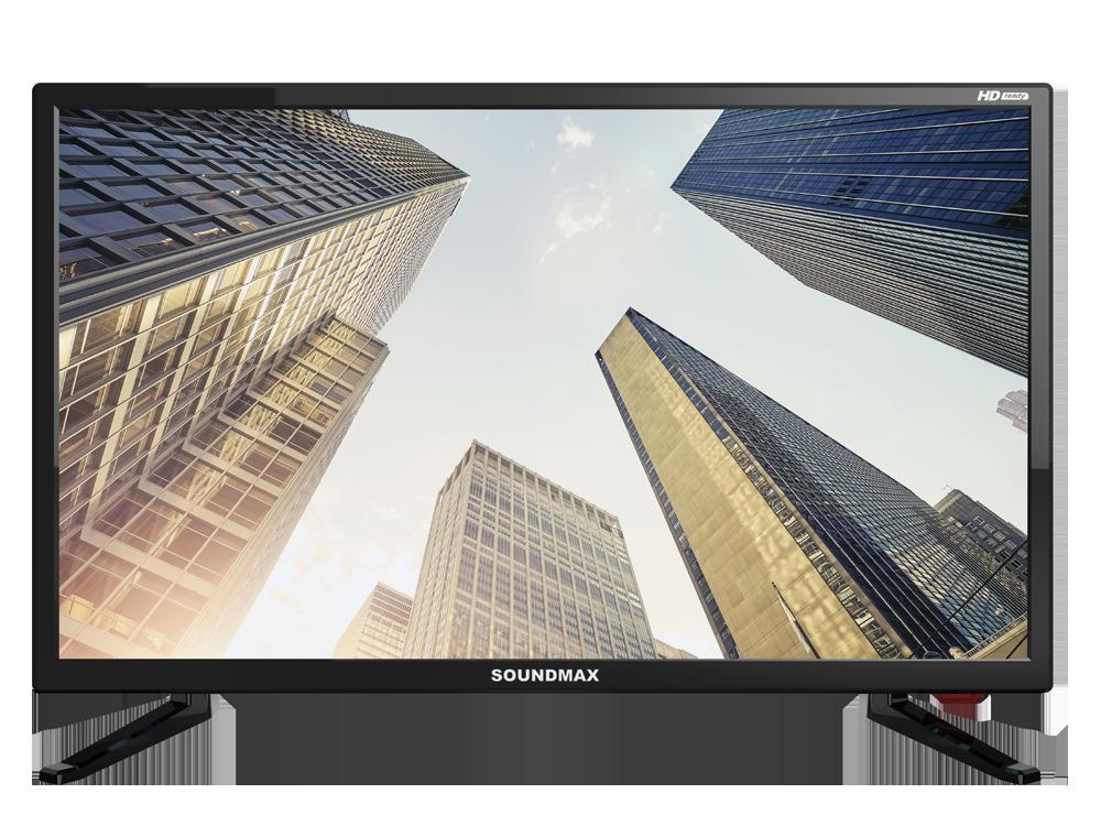 Телевизор LED 24 Soundmax SM-LED24M02 (черный) HD Ready, USB порт, HDMI, VGA, DVB-T/DVB-T2/DVB-C, ТЕЛЕТЕКСТ