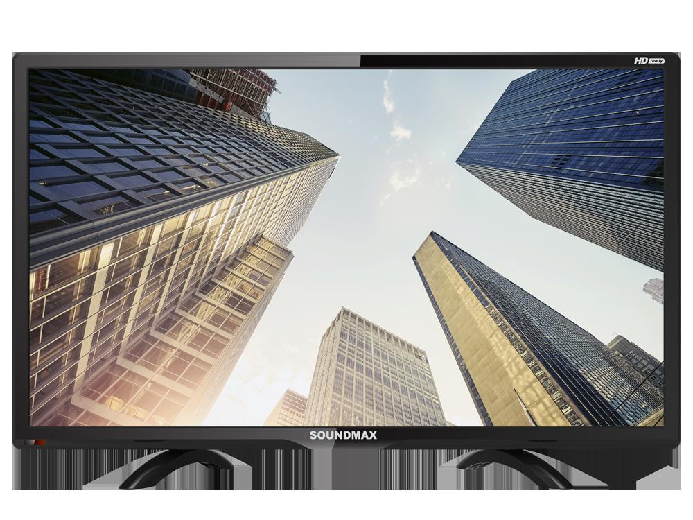 Телевизор LED 24 Soundmax SM-LED24M07 (черный) HD Ready, USB порт, HDMI, VGA, DVB-T/DVB-T2/DVB-C, ТЕЛЕТЕКСТ