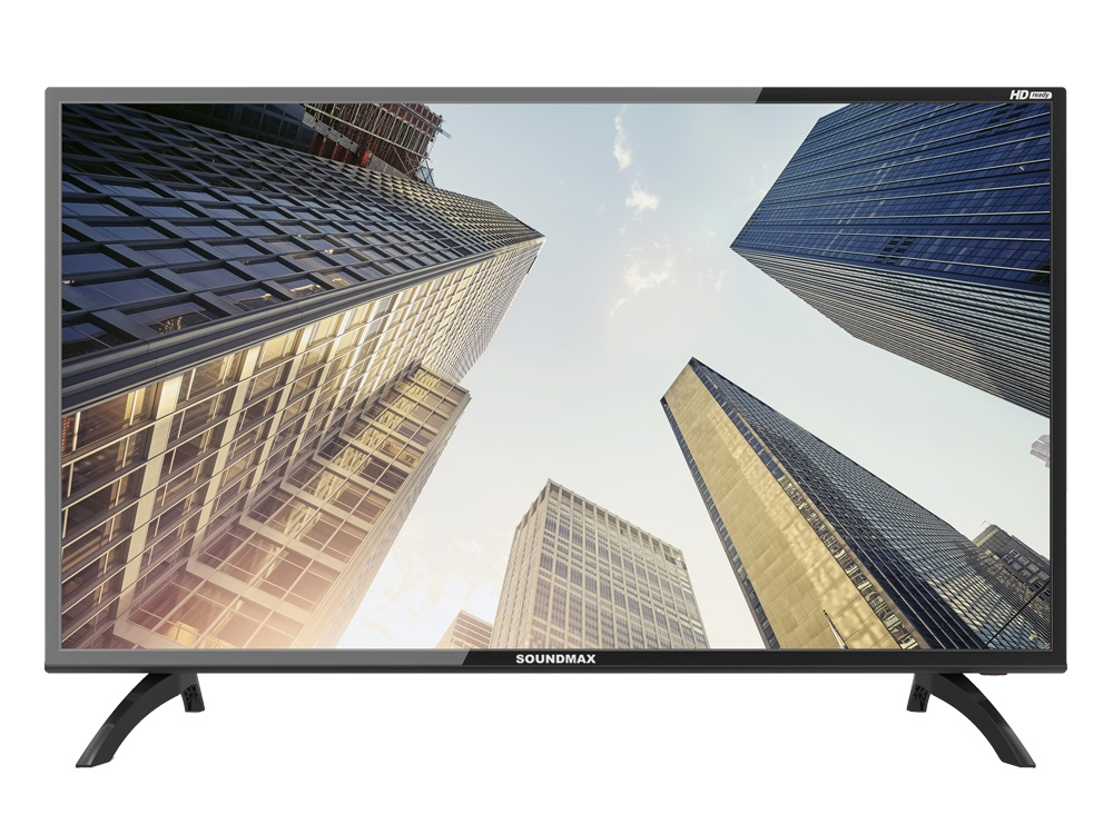 Телевизор Soundmax SM-LED39M06 LED 39 Black, 16:9, 1366x768, 2500:1, 240 кд/м2, 3xHDMI, USB, VGA, AV, DVB-T2, T, C телевизор led 20 harper 20r470t черный hd ready dvb t2 hdmi usb vga black 16 9 1366x768 40000 1 180 кд м2 vga hdmi dvb t t2 c
