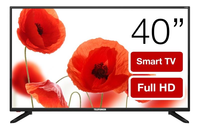 Телевизор LED 40 TELEFUNKEN TF-LED40S81T2S(черный) телевизор telefunken tf led39s52t2 черный