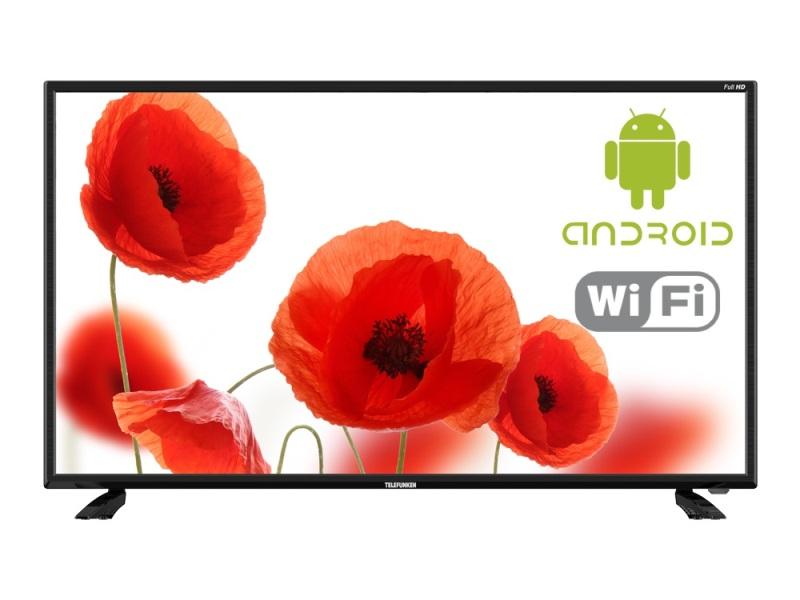 Телевизор TELEFUNKEN TF-LED40S43T2S   Black, 16:9, 1920x1080, 5000:, 280 кд/м2, SMART TV, 2xUSB, VGA, HDMI, Wi-Fi, RJ-45, DVB-, ,