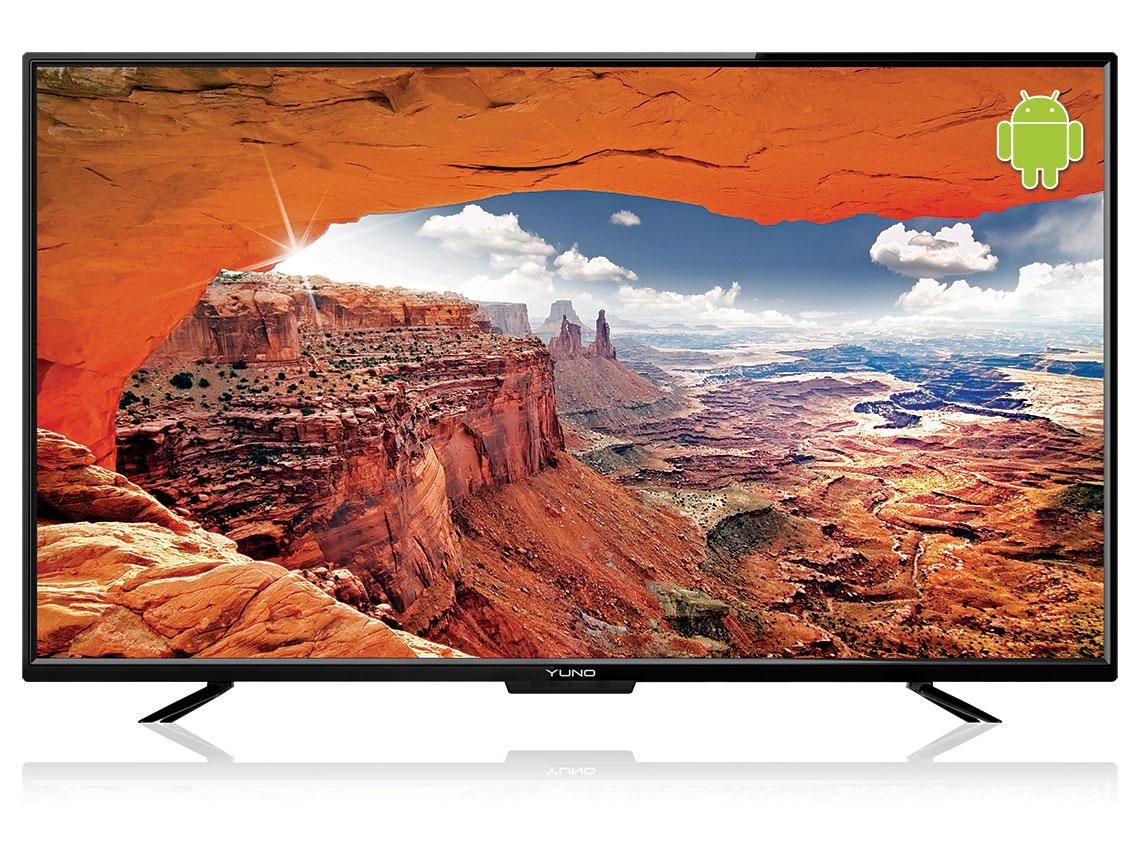 Телевизор Yuno ULX-43FTC245 LED 43 Black, 16:9, 1920x1080, Smart TV, 1200:1, 250 кд/м2, USB, VGA, 3xHDMI, AV, RJ45,WiFi, DVB-T, T2, C