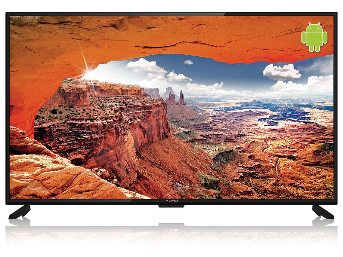 "Телевизор YUNO ULX-55UTCS328 LED 55"" Black, 16:9, 3840x2160, Smart TV, 1200:1, 330 кд/м2, USB, 3xHDMI, AV, RJ-45, Wi-Fi, DVB-S2, T2, C"