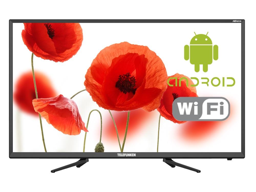 Телевизор Telefunken TF-LED32S82T2S LED 32 Black, 16:9, 1366x768, Smart TV, 3000:1, 280 кд/м2, USB, 2xHDMI, AV, WiFi, RJ45, DVB-T, T2, C usb 2 0 charging cable for weloop smart watch black