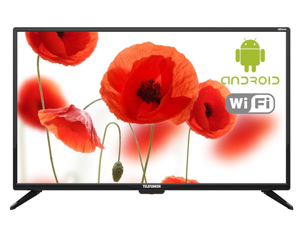 Телевизор Telefunken TF-LED32S85T2S LED 32 Black, 16:9, 1366x768, Smart TV, 3000:1, 240 кд/м2, USB, 3xHDMI, AV, RJ-45, Wi-Fi, DVB-T, T2, C телевизор lg 32lk615b led 32 black 16 9 1366x768 smart tv usb av 3xhdmi rj 45 wi fi dvb t t2 c s s2