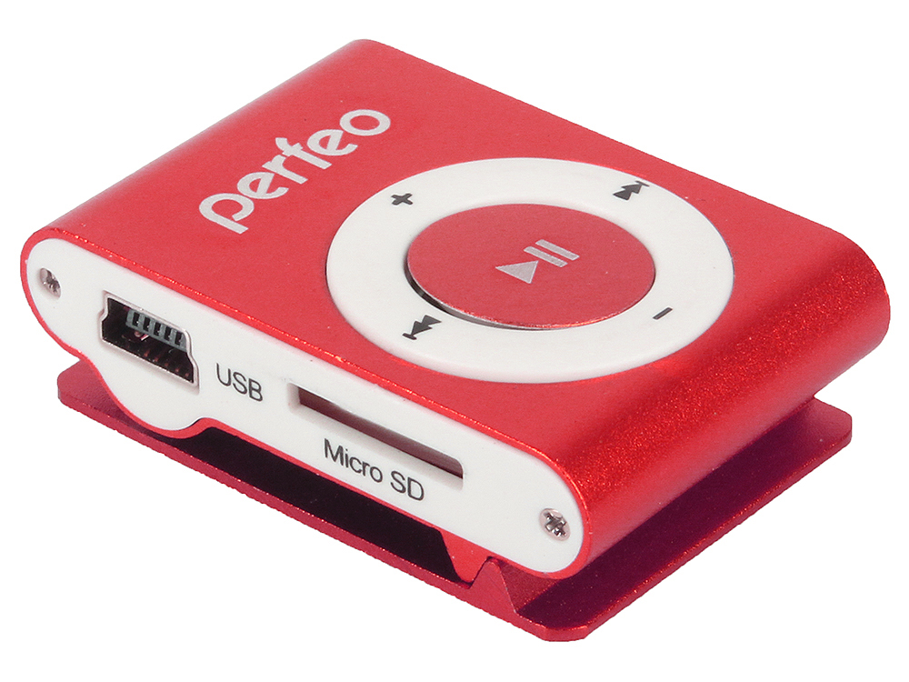 цена на Цифровой аудио плеер Perfeo Music Clip Titanium, бордовый (VI-M001 Inkiness)