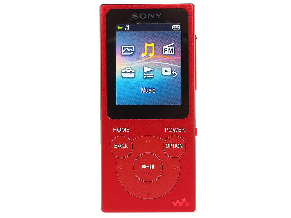 Плеер Sony NW-E394 красный mp3 плеер sony walkman nw a25hn 16gb черный