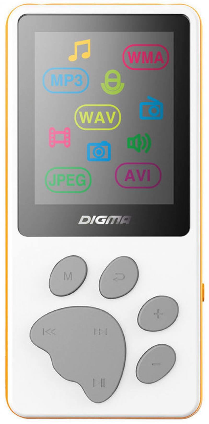 Плеер Digma S3 4Gb белый/оранжевый плеер iriver astell