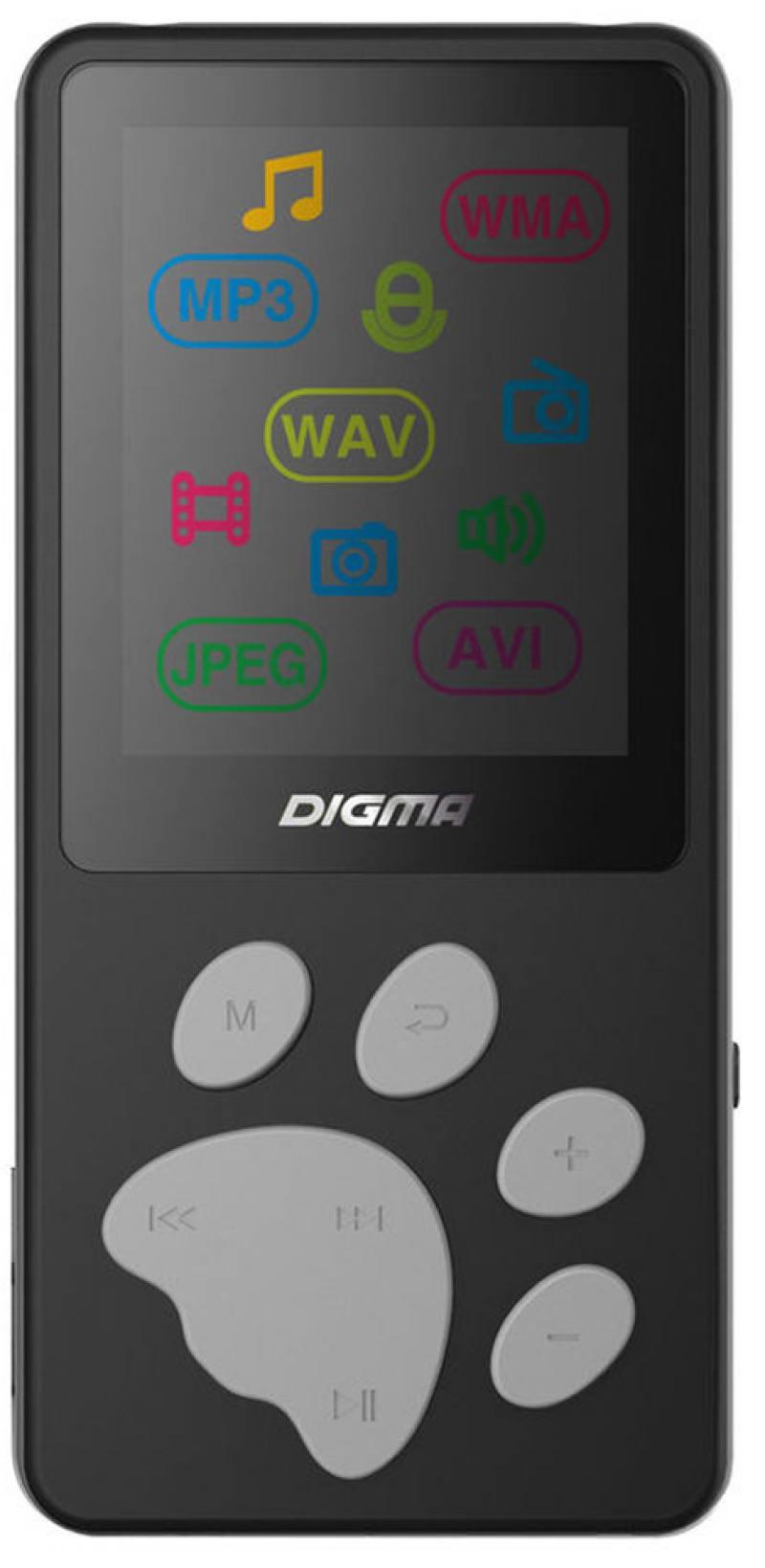 Плеер Digma S3 4Gb черный/серый плеер iriver astell