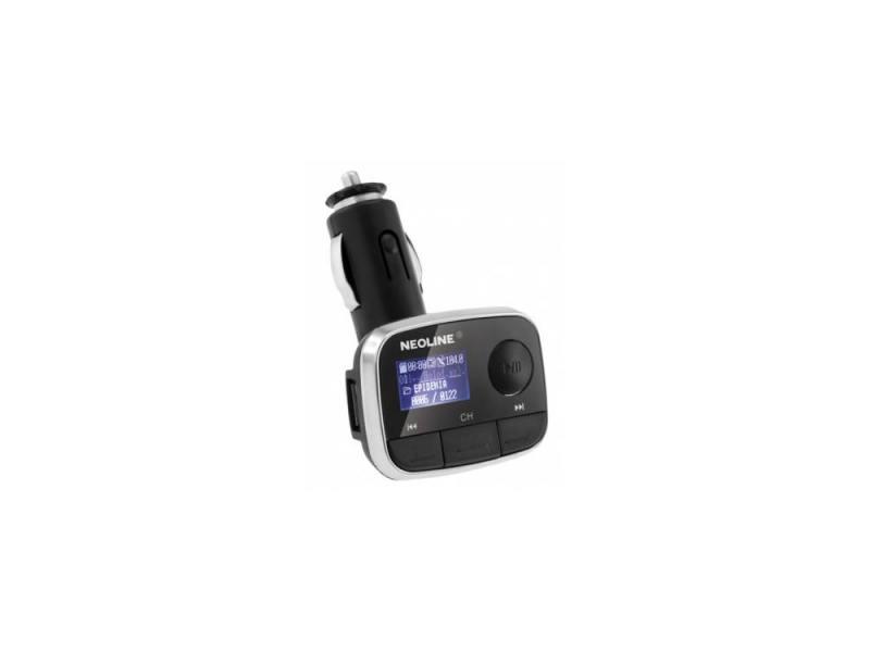 FM трансмиттер Neoline Bliss FM microSD USB пульт ДУ черный fm трансмиттер neoline rave fm