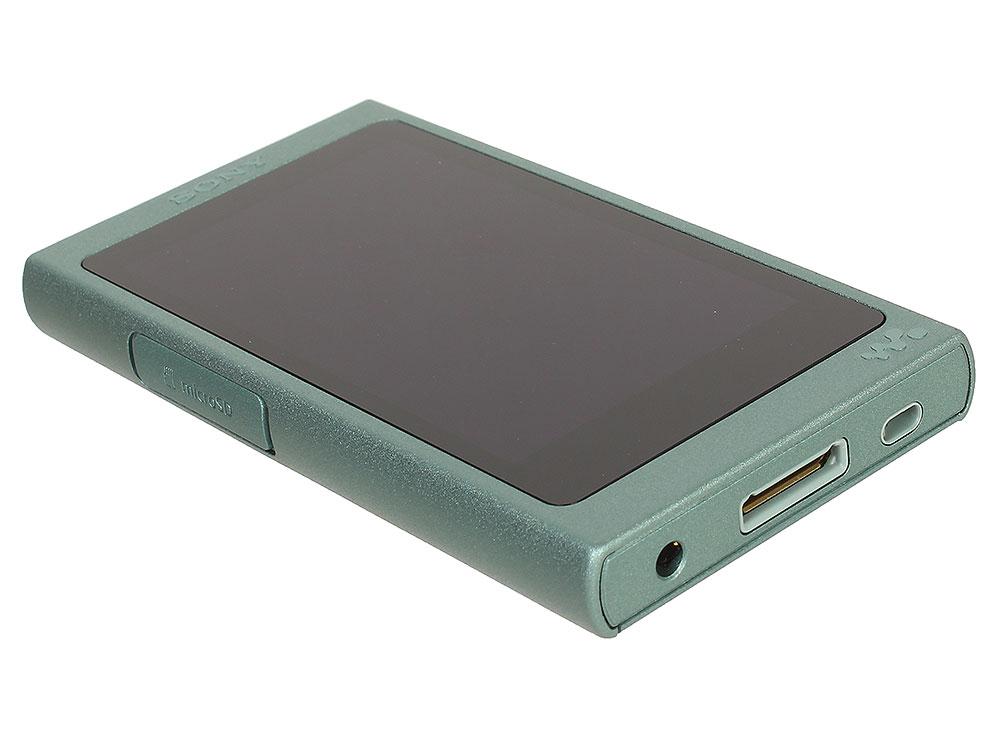 Плеер Sony NW-A45HN, зеленый, наушники в комплекте mp3 плеер sony nw a45hn flash 16гб синий [nwa45hnl ee]