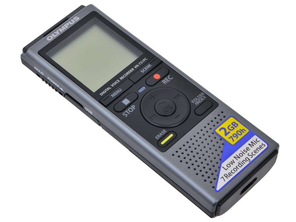 Диктофон Olympus VN-731PC Grey Цифровой диктофон, 2Гб, USB, 790часов от OLDI