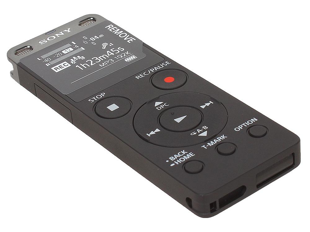 Диктофон Sony ICD-UX560 черный диктофон sony icd px470 4 gb черный [icdpx470 ce7]