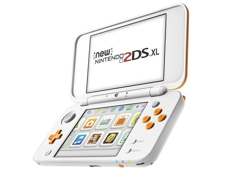 Игровая приставка New Nintendo 2DS XL (White/Orange) transparent separate protective clear white soft tpu case skin cover for new nintendo 3ds ll xl