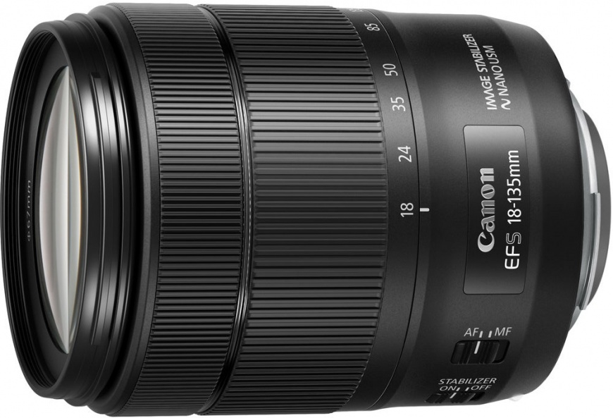 Объектив Canon EF-S IS USM 18-135мм f/3.5-5.6 черный 1276C005 объектив canon ef is usm 9518b005 16 35мм f 4 черный
