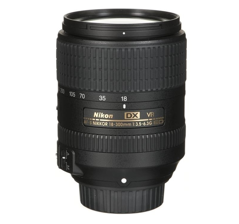 Объектив Nikon AF-S 18-300mm f/3.5-6.3G ED VR DX Nikkor nikon nikon d3400 slr комплект af s dx nikkor 18 105mm f 3 5 5 6g ed vr black