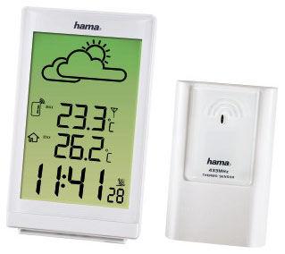 Погодная станция Hama EWS-880 H-113985 белый метеостанция цифровая hama ews 880