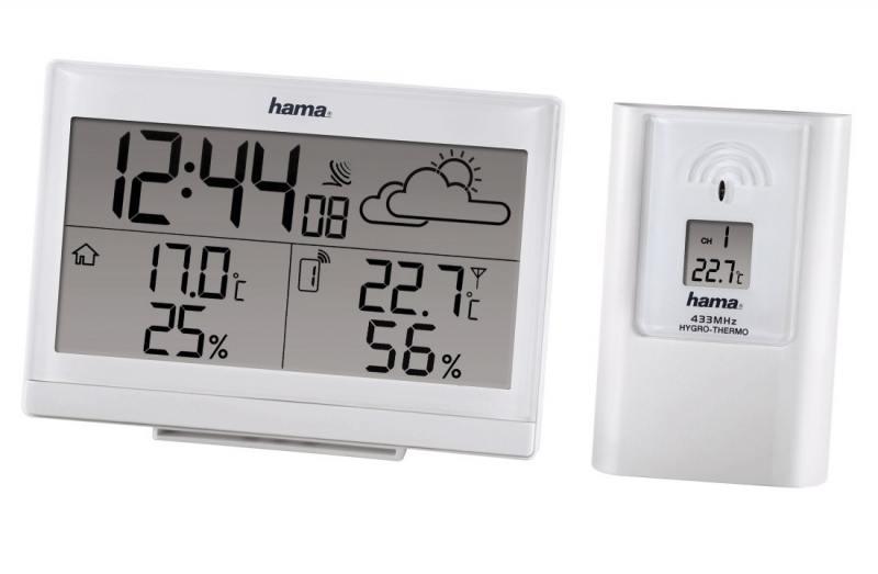 Метеостанция Hama H-113986 EWS-890 белый метеостанция цифровая hama ews 800 h 76045
