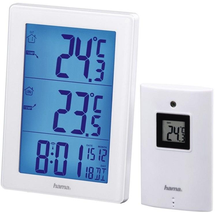 Метеостанция Hama 136256 EWS-3000 белый цена и фото