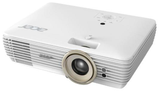Проектор Acer V7850 DLP 3840x2160 2200 люмен 1200000:1 белый MR.JPD11.001 ec j3401 001 original bare projector lamp dlp lcd for acer pd311 pd323