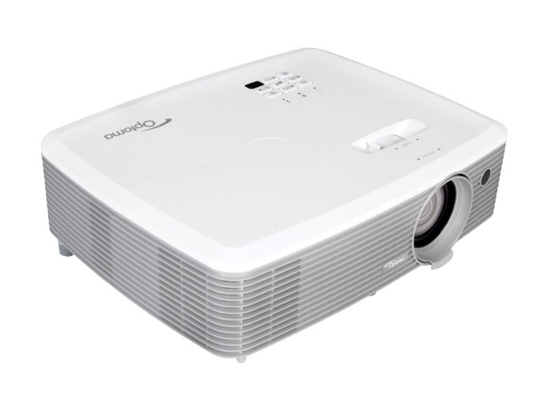 Проектор Optoma EH400 DLP 1920x1080 4000 ANSI Lm 22000:1 VGA HDMI USB RS-232 белый 95.78E01GC0E проектор canon lv s300 dlp 800x600 3000lm 2300 1 vga usb rs 232 9964b003