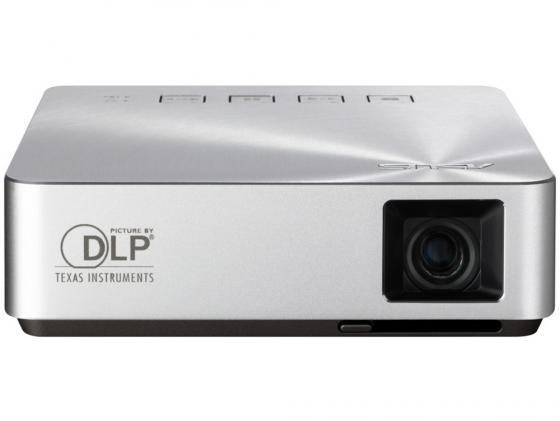 Проектор Asus S1 Mobile DLP 854x480 200 ANSI Lm 1000:1 HDMI USB 90LJ0060-B00120 проектор acer c120 dlp 854x480 100 ansi lm